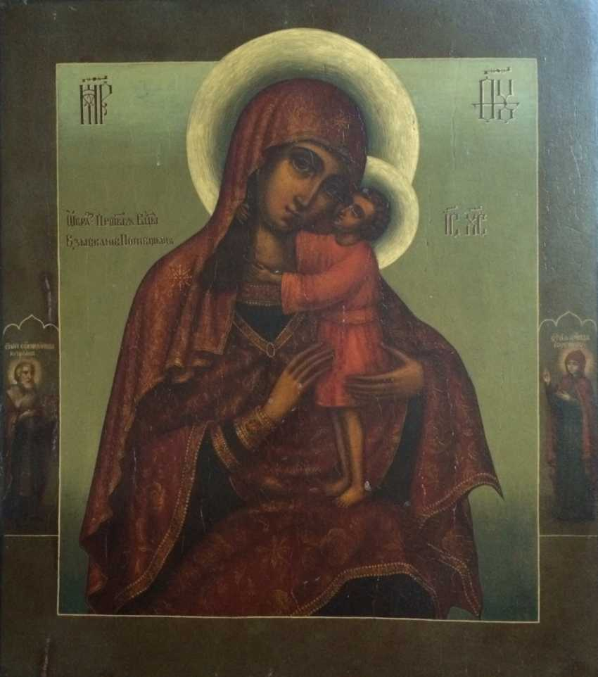"""The Icon """"Seeking Of The Lost Holy Mother Of God"""". Moscow, 1895, 84 sample. - photo 3"""