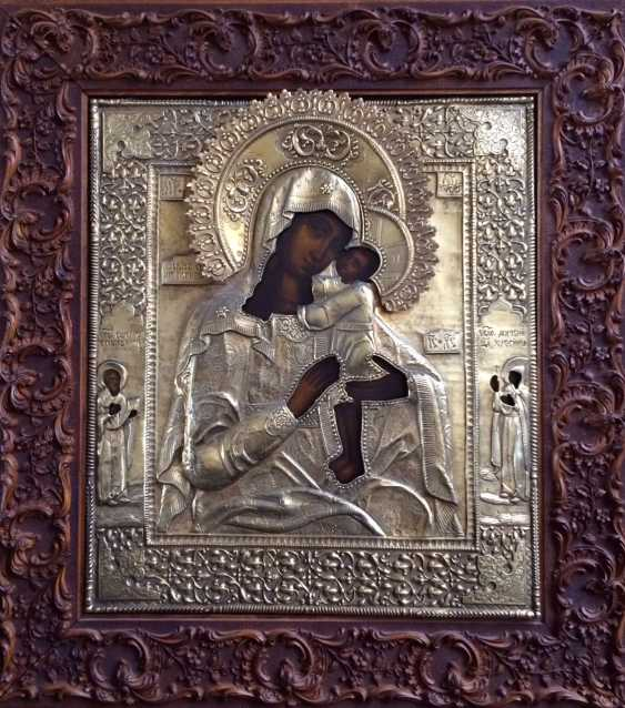 """The Icon """"Seeking Of The Lost Holy Mother Of God"""". Moscow, 1895, 84 sample. - photo 2"""