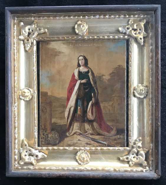 """The Icon Of """"SV. Great Martyr Barbara"""". St. Petersburg, XIX - n. XX V. - photo 1"""