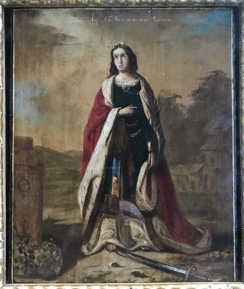 """The Icon Of """"SV. Great Martyr Barbara"""". St. Petersburg, XIX - n. XX V. - photo 2"""