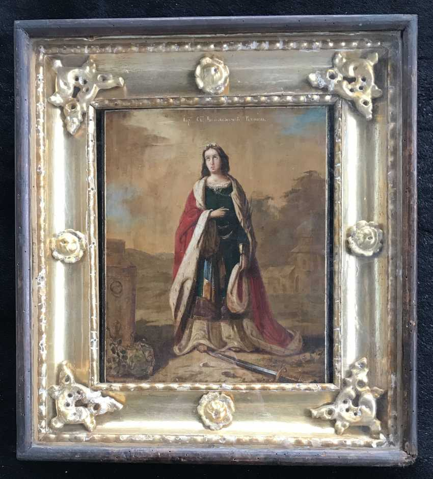 """The Icon Of """"SV. Great Martyr Barbara"""". St. Petersburg, XIX - n. XX V. - photo 3"""