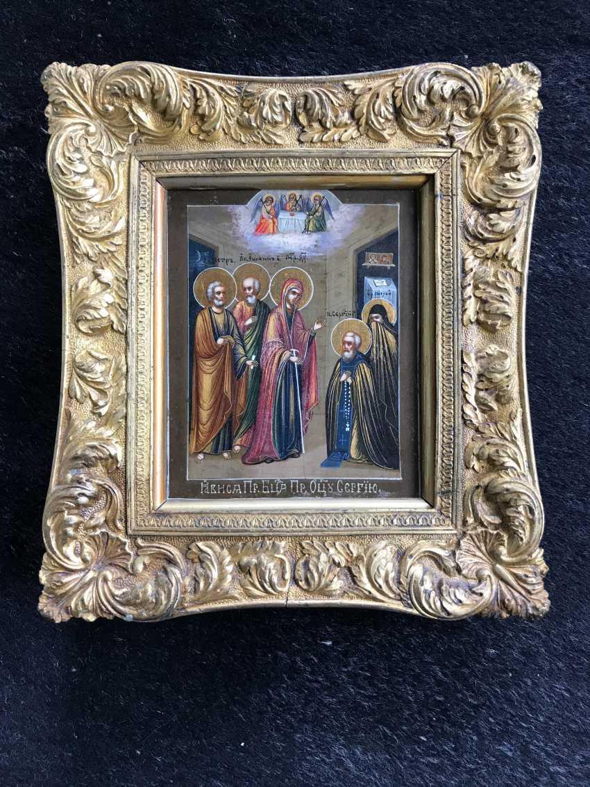 "J. E. Epaneshnikov""Appearance Of The Virgin To Sergius Of Radonezh"". J. E. Epaneshnikov. Moscow, late XIX century - photo 3"