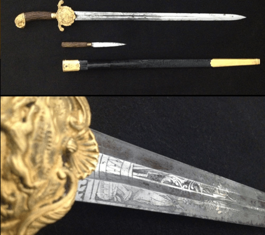Hunting dagger with scabbard XIX century. - photo 4