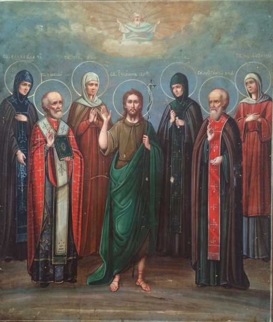 """L'Icône De La """"Cathédrale Des Saints"""". La russie, au milieu du XIXÈME siècle - photo 1"""