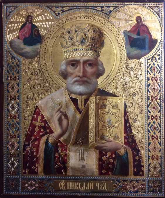 "The Icon Of ""SV. Nicolas (Winter)"".Workshop P. P. Udalova. Saint Petersburg, late XIX century - photo 1"
