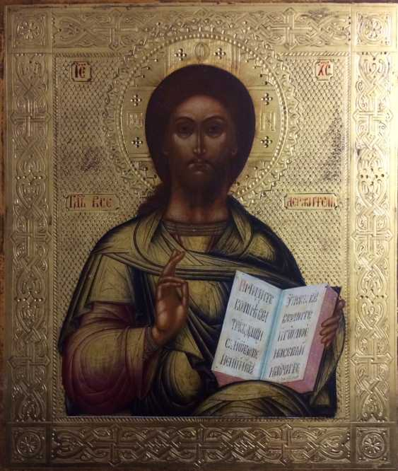 """Palekh,Parilov I.""""the Lord Almighty"""" 1860-ies; icon - photo 1"""