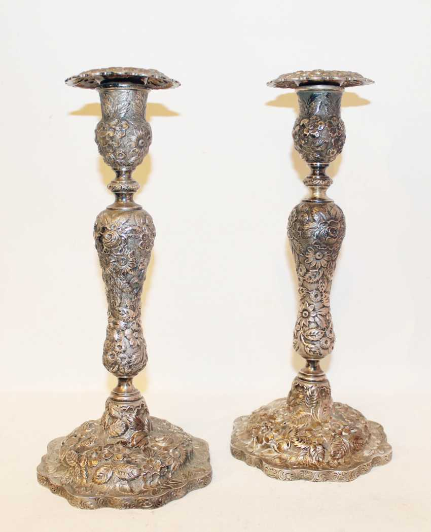 Candle holders pair of single candle - photo 1
