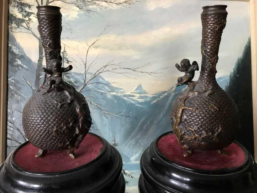 Pair of vases. China, XIX - n. XX centuries - photo 1