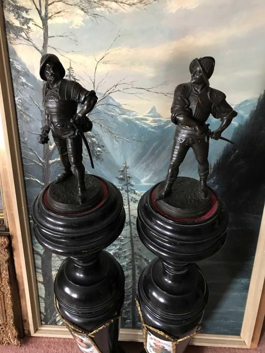 A pair of sculptures the Warriors. France, XIX century - photo 2