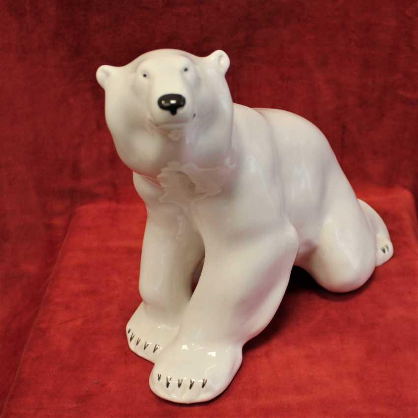 "The statuette ""polar bear"", LFZ, XX century - photo 1"