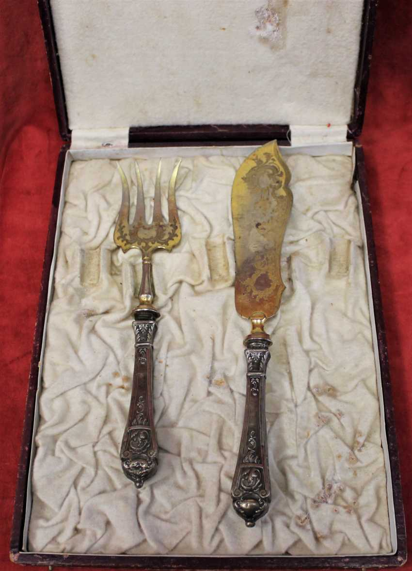 Cutlery set for fish, St. Paul. XX century. - photo 2
