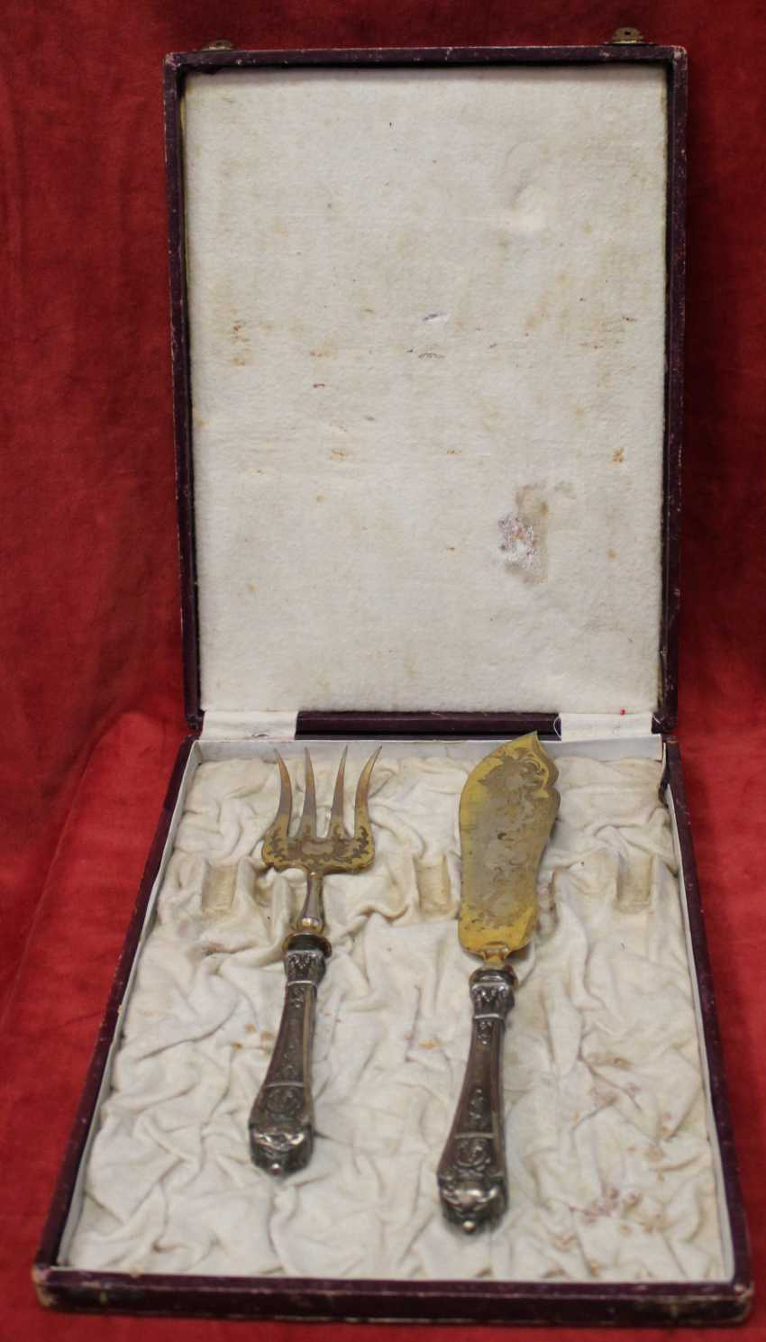 Cutlery set for fish, St. Paul. XX century. - photo 3