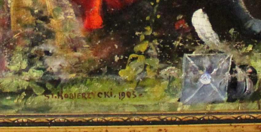 """The picture """"Office romance"""". St. Kobierzycki. 1905. - photo 2"""