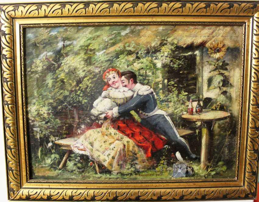 """The picture """"Office romance"""". St. Kobierzycki. 1905. - photo 1"""