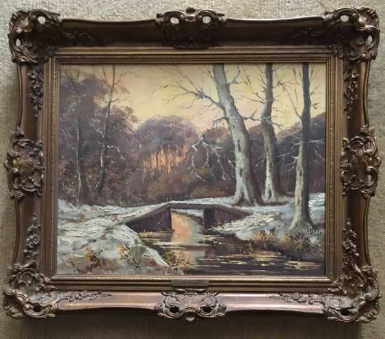 """The picture """"Winter forest"""". A. Wouters. Nach. The XX century. - photo 2"""