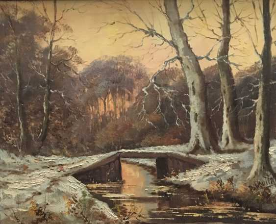 """The picture """"Winter forest"""". A. Wouters. Nach. The XX century. - photo 6"""