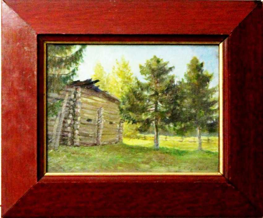 "Emelyanov S. A. the Painting ""Summer day"". Emelyanov S. A., 1924. - photo 2"
