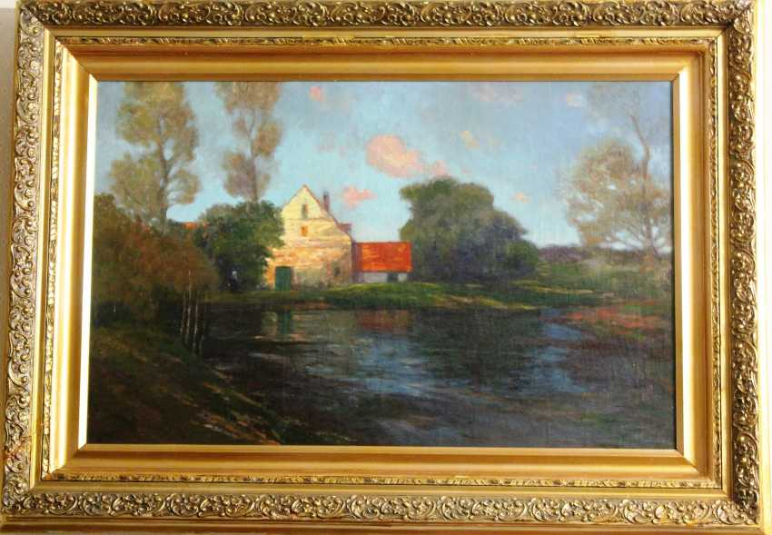 "Hansen A. V. Painting ""Landscape""of the XIX - beginning of XX centuries. - photo 2"