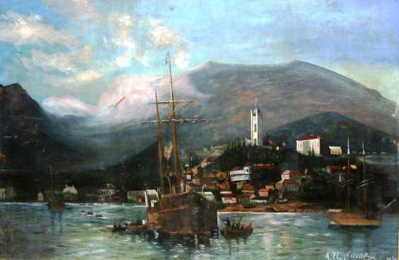 "A. Ilnitsky""Harbor in Yalta""XIX-n. XX centuries. - photo 1"