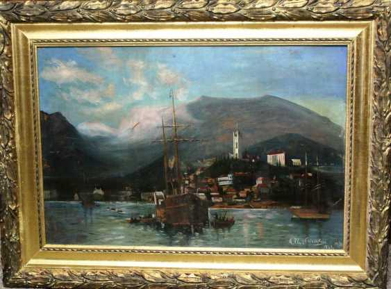 "A. Ilnitsky""Harbor in Yalta""XIX-n. XX centuries. - photo 2"
