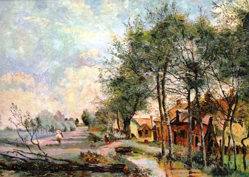 "The painting ""Village morning"", XIX century - photo 1"