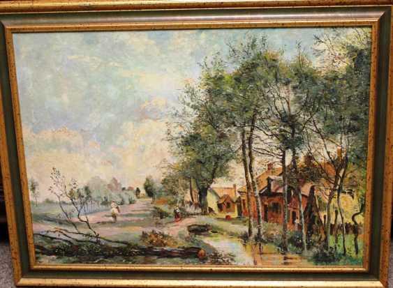 "The painting ""Village morning"", XIX century - photo 2"