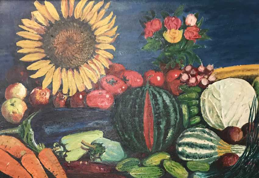 """The painting """"still life with vegetable"""". Tyurin V. P. - photo 2"""