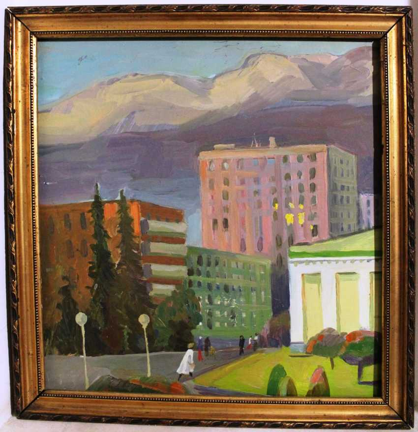 "The painting ""City landscape"" , ser. XX century. - photo 1"