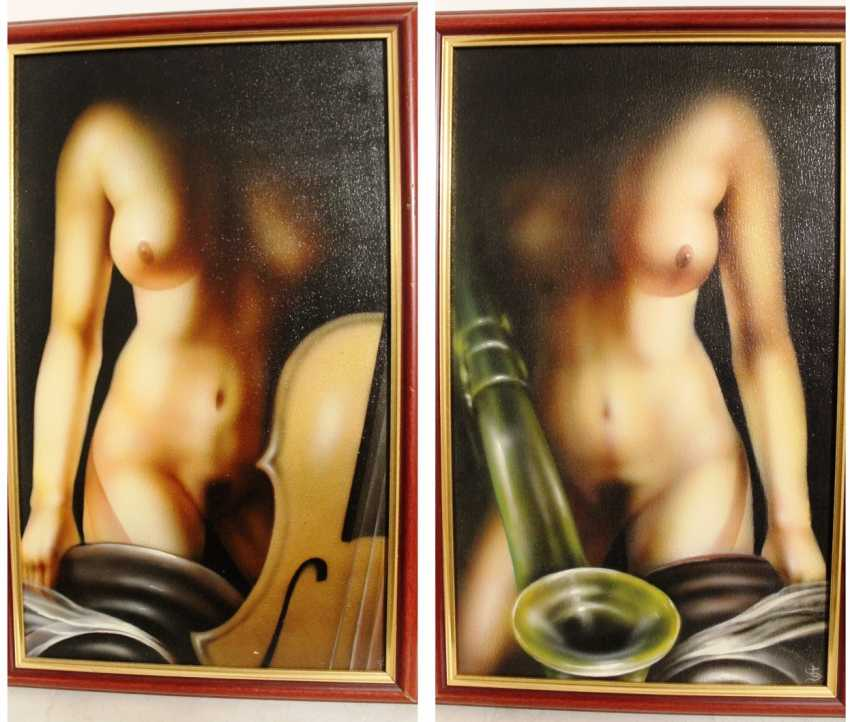 A pair of paintings of Nude, XX century. - photo 1