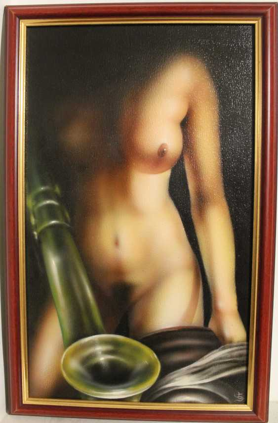 A pair of paintings of Nude, XX century. - photo 3