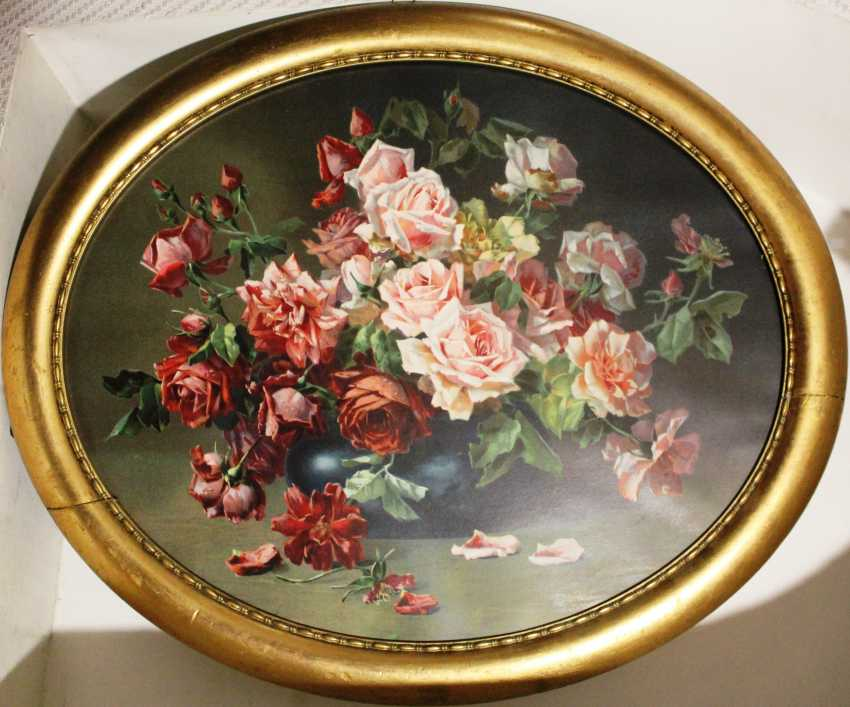 """The picture is a reproduction of """"Roses"""", XIX - n. XX centuries. - photo 1"""