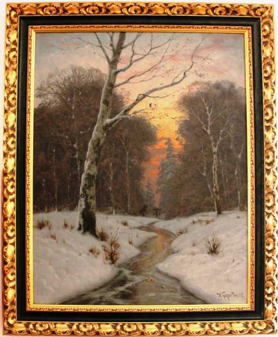 """Heinrich Gogarten. """"Winter evening"""", XIX - n. XX centuries. - photo 2"""