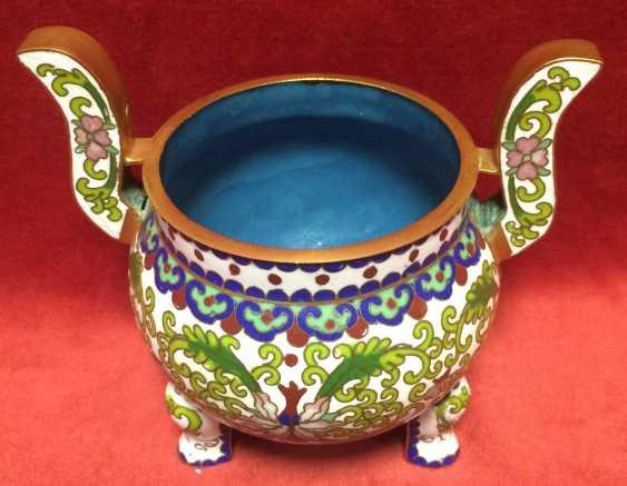 Cloisonne.Vase caviar. China, 1-I floor.XX - ser. XX centuries. - photo 1
