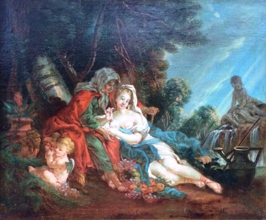 "Follower Of Francois Boucher. ""Vertumnus and Pomona"", XVIII century. - photo 2"