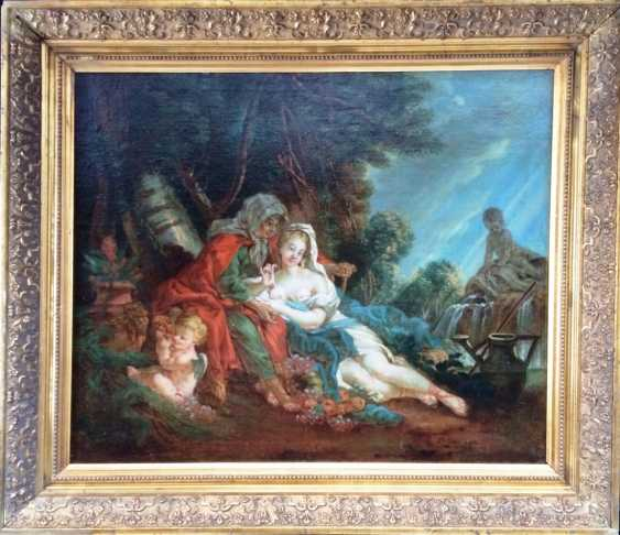 "Follower Of Francois Boucher. ""Vertumnus and Pomona"", XVIII century. - photo 1"