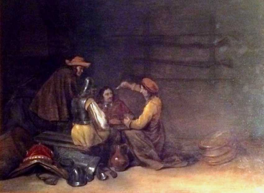 """Gerard Ter Borch. """"Soldiers playing cards"""". Holland, XVIII century - photo 1"""