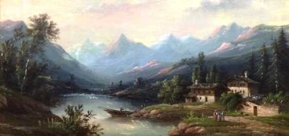 "Rueff A. ""mountain lake"", 1874 - photo 1"