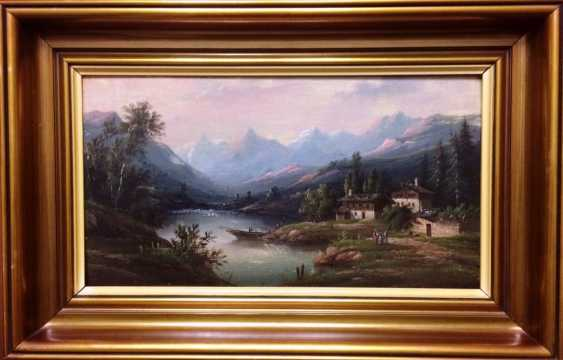 "Rueff A. ""mountain lake"", 1874 - photo 2"