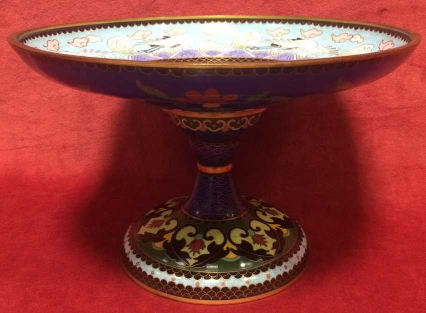 Cloisonne. The bottom. China, XIX century - photo 3