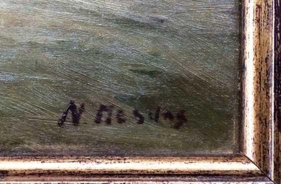"""N. Mesdag. """"Les navires dans la mer déchaînée"""", c. XIX - n. XX siècles - photo 3"""