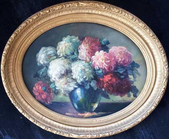 "Horst C. ""still life with peonies"", XIX century - photo 1"