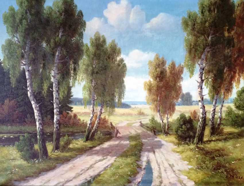 "Wilhelm Thiele. ""On the way home..."" , XIX - n. XX centuries. - photo 1"