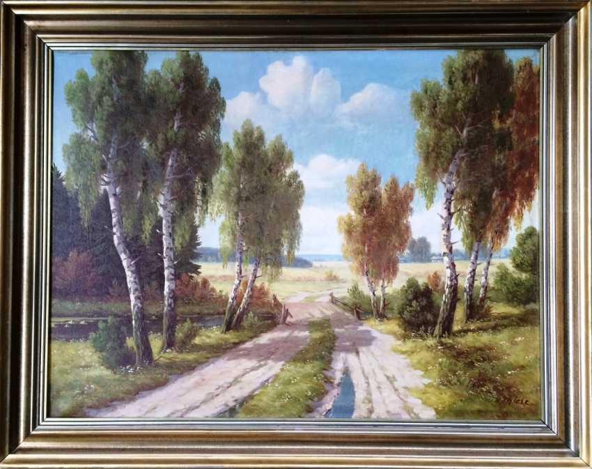 "Wilhelm Thiele. ""On the way home..."" , XIX - n. XX centuries. - photo 2"