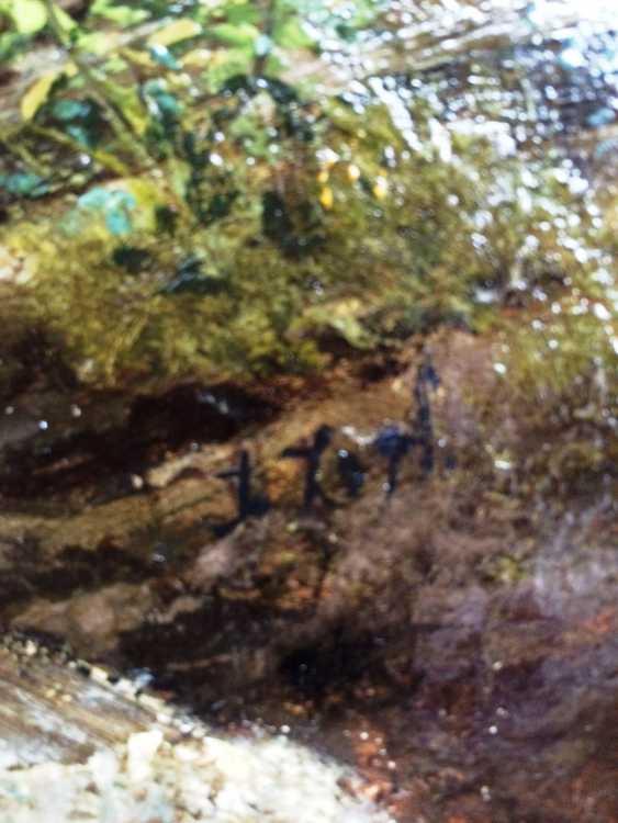"""Zopf Julius. """"Le ruisseau"""", XIXE siècle - photo 3"""