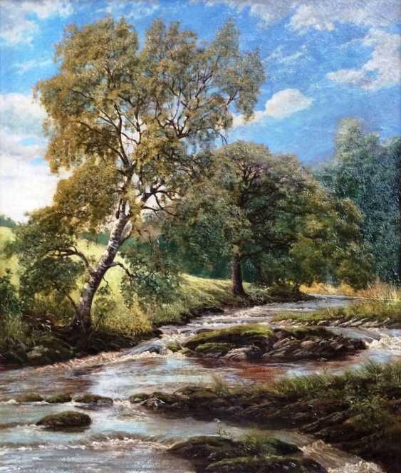 """Zopf Julius. """"Le ruisseau"""", XIXE siècle - photo 2"""