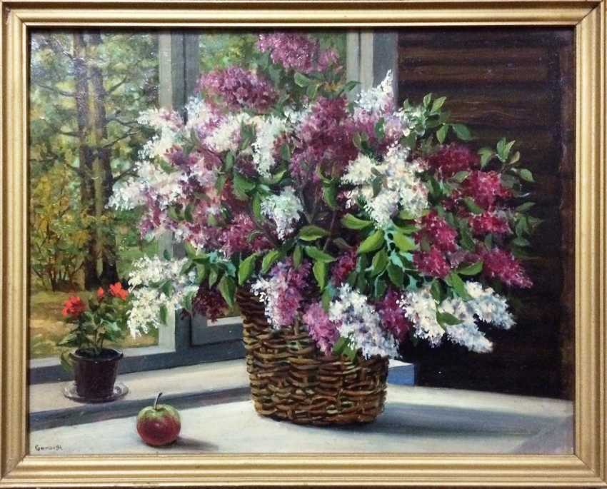 """A. Gamow """"lilacs in the window,"""" 1994. - photo 1"""