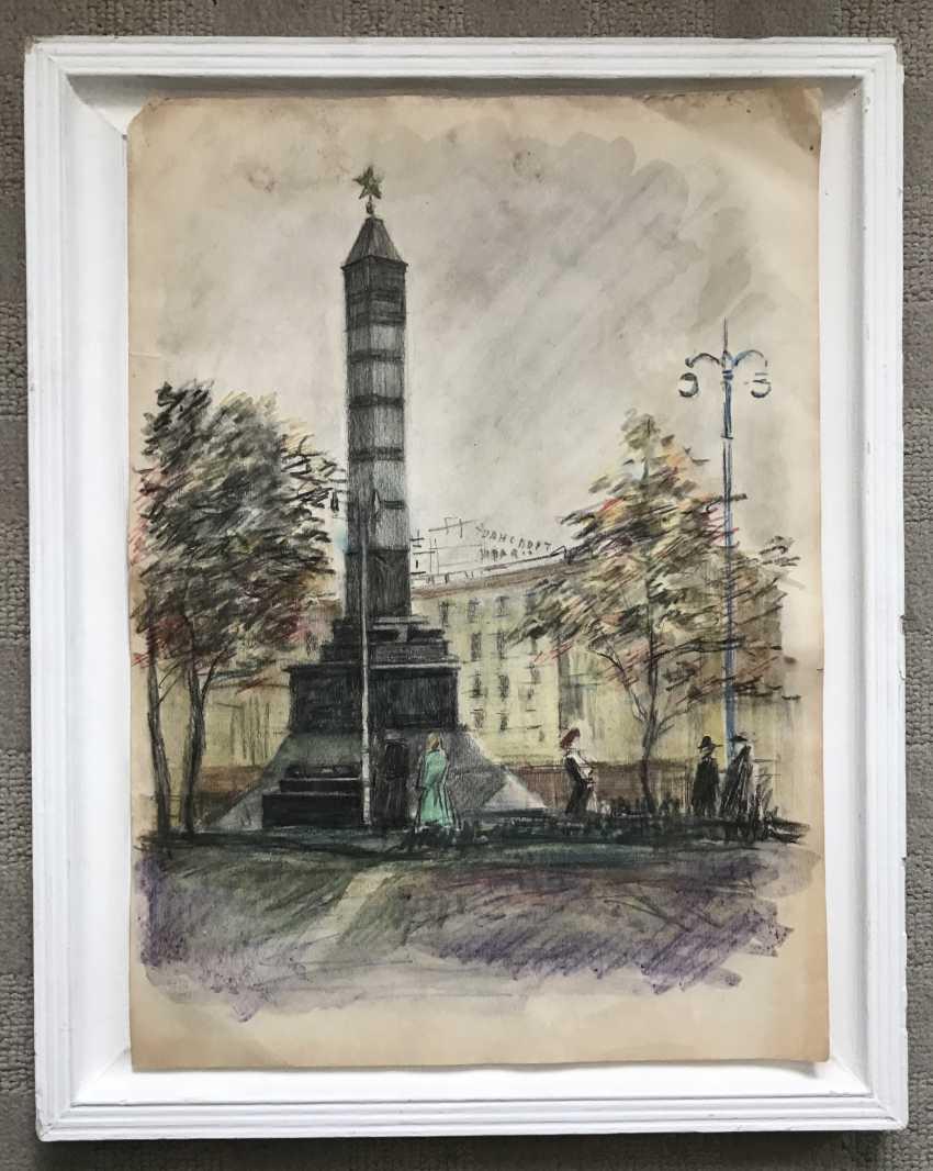 "Bulychev Yu. A. ""The Minsk. Victory square"", 1960 G. - photo 2"