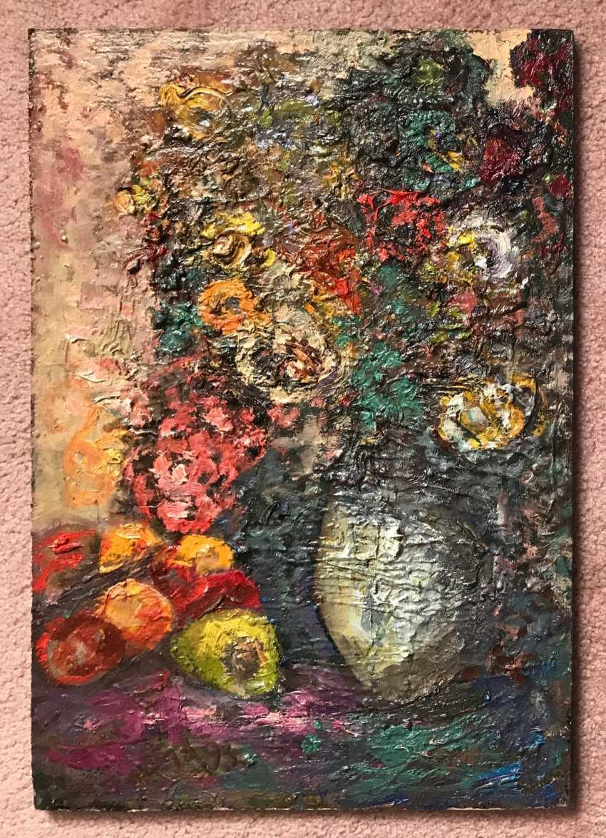 """Akulov V. I. """"Vase with flowers"""", 1993 - photo 2"""