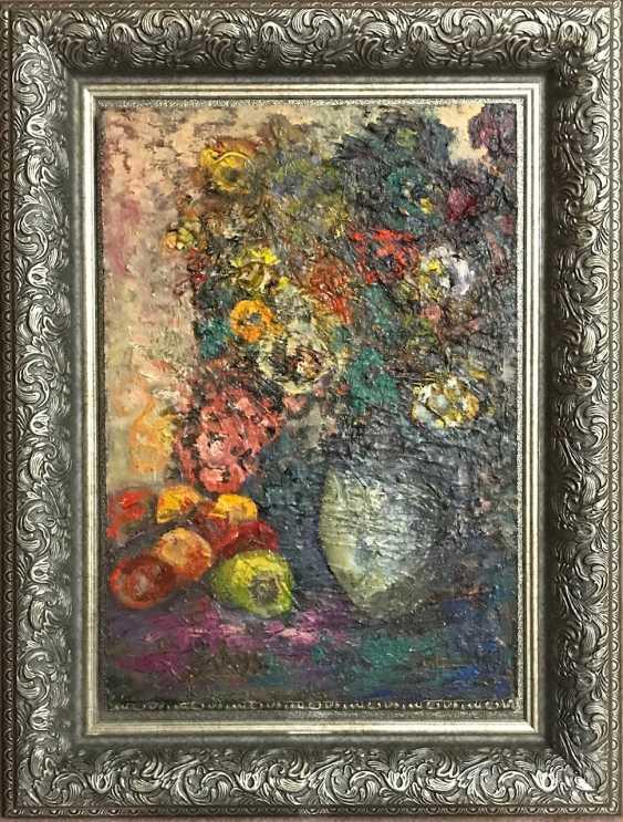 """Akulov V. I. """"Vase with flowers"""", 1993 - photo 5"""