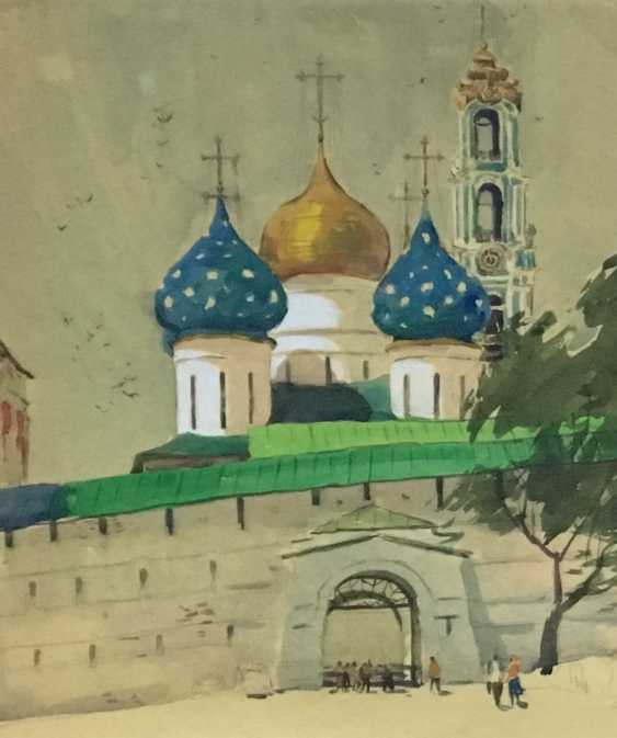 "Belsky, M. L. ""Zagorsk, Trinity-Sergius Lavra, the Entrance gate"", 1966 - photo 2"